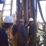Drillers Ron and Donnie Check For Core