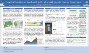 Diamond Tachera academic conference poster groundwater
