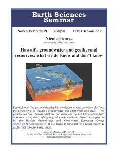 Earth Sciences Seminar Nicole Lautze