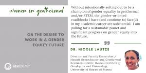 Nicole Lautze Women in Geothermal