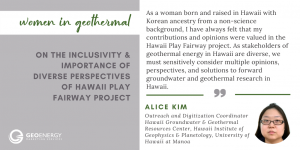 Women in Geothermal Alice Kim Geo Energy Marketing Services