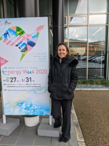 Nicole Lautze at Energy Week 2020, Kyushu University