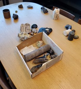 The rocks from the department's collection