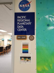 The preschoolers visit the Pacific Regional Planetary Data Center.