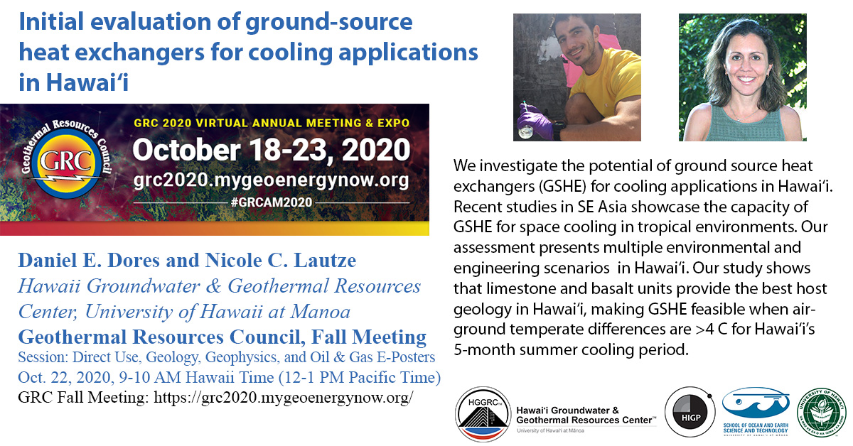 Geothermal Resources Council Meeting Nicole Lautze Daniel Dores conference presentation