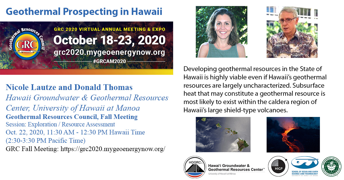 Nicole Lautze Donald Thomas Geothermal Resources Council Meeting