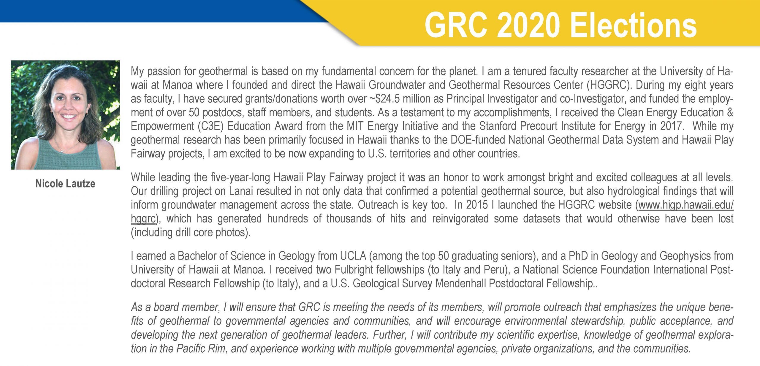 Nicole Lautze Geothermal Rising Geothermal Resouce Council