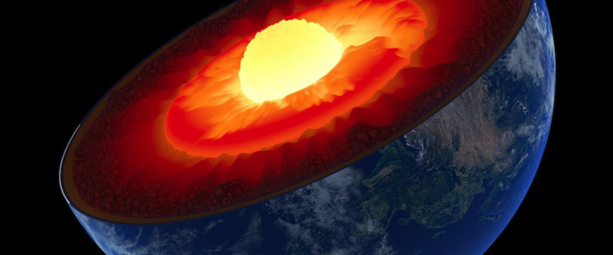 illustration of Earth's interior