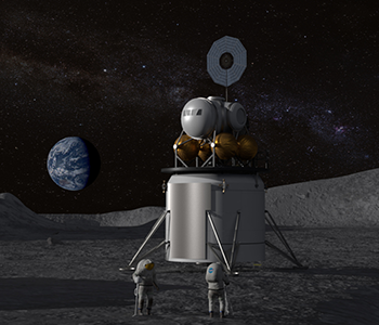 Artist Rendition Of Future Astronauts On The Moon. Image Credit: NASA.
