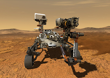 Illustration Depicts NASA's Perseverance Rover Operating On The Surface Of Mars. Credit: NASA/JPL-Caltech.