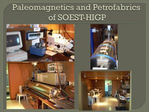 paleomagnetics and petrofabrics facilities
