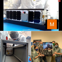 Photos Of Neutron-1 CubeSat With HSFL Team.