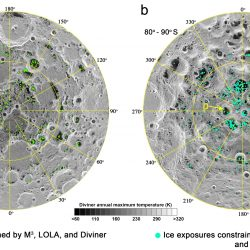 Possible Locations Of Ice At The Moon's Poles, Based On Analysis Of Previous Missions